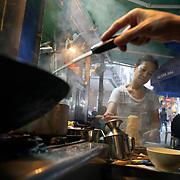 Elaine HAU Wai-lin, owner of a street restaurant in Hong Kong.