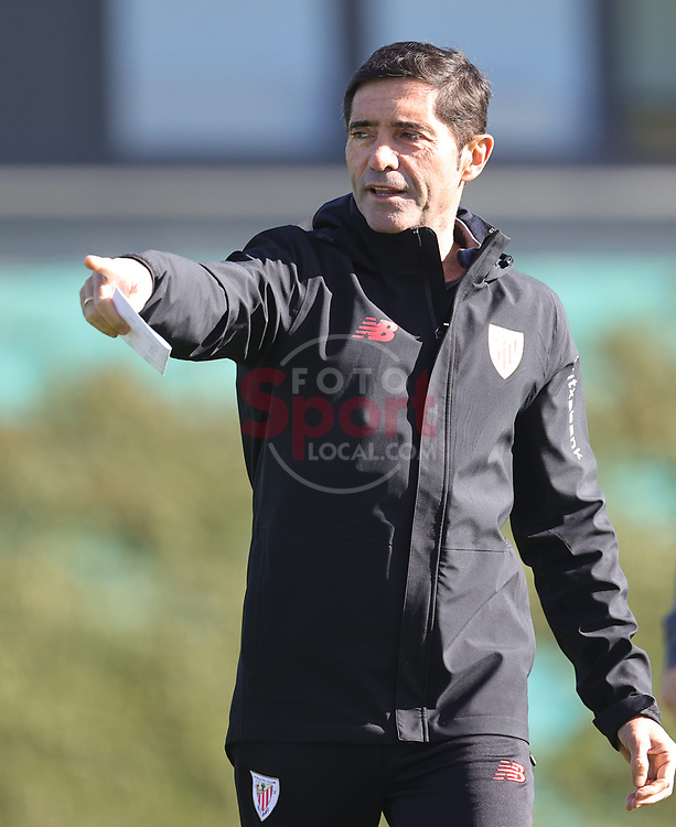 Marcelino Garcia Toral (Athletic Club) training his team<br /> Athletic Club de Bilbao Training in Lezama Sports City
