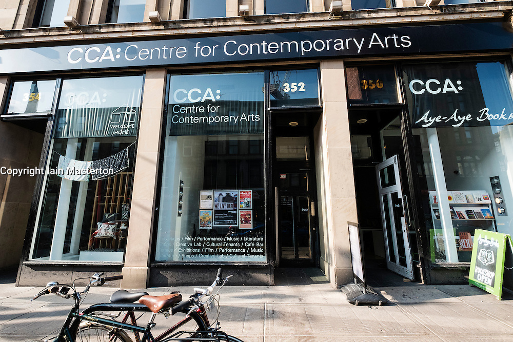 View of CCA, the Centre for Contemporary Arts on Sauchiehall Street in Glasgow, United Kingdom