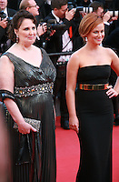 Phyllis Smith and Amy Poehler at the gala screening for the film Inside Out at the 68th Cannes Film Festival, Monday May 18th 2015, Cannes, France