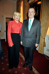 DAVID McALPINE and his wife actress ANGHARAD REES  at an exhibition of photographs by Edgar Astaire held at The Royal Hospital Chelsea, London on 24th April 2009.