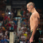 Rory MacDonald weighs in during the official UFC 189 weigh-in event at the MGM Grand Arena in Las Vegas on July 10, 2015. (Cooper Neill)