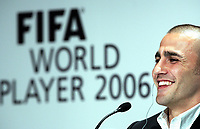 Fotball 18 . desember 2006 , FIFA World Player Gala 2006 Fabio Cannavaro (ITA) bei der Pressekonferenz
