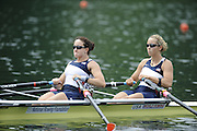 Lucerne, SWITZERLAND. USA W2X, Bow, Megan KALMOE and Ellen TOMEK, move away from the start , in their heat of the Women's Double Sculls, at the 2008 FISA World Cup Regatta, Round 2.  Lake Rotsee, on Thursday,  30/05/2008.  [Mandatory Credit:  Peter Spurrier/Intersport Images].Lucerne International Regatta. Rowing Course, Lake Rottsee, Lucerne, SWITZERLAND.