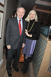 DAVID PEPPERCORN and SERENA SUTCLIFFE attend the MARC Restaurants Truffle Dinner hosted by Marlon & Nadya Abela at Cassis, 232-236 Brompton Road, London on 13th February 2013.