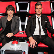 NLD/Hilversum/20121109 - The Voice of Holland 1e liveuitzending, Nick en Simon, Nick Schilder en Simon Keizer