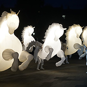 FierS à Cheval opening the XTRAX/GDIF International Showcase of Outdoor Arts 2017