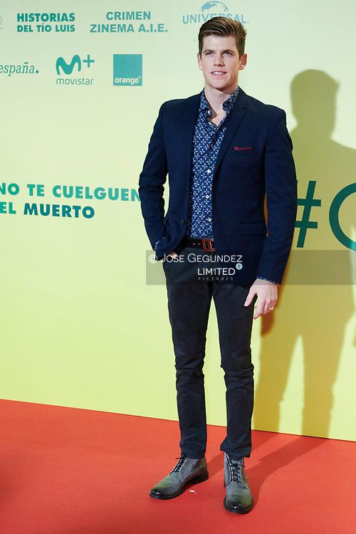 Miguel Bernardeau attends 'Ola de Crímenes' premiere at Capitan Cinema on October 3, 2018 in Madrid, Spain