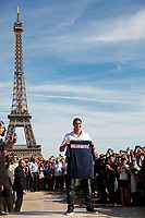 FOOTBALL - MISCS - PARIS SAINT GERMAIN PRESS CONFERENCE - PARIS - FRANCE - 18/07/2012 - PHOTO JULIEN BIEHLER / DPPI - PRESENTATION PSG NEW PLAYER ZLATAN IBRAHIMOVIC IN TROCADERO