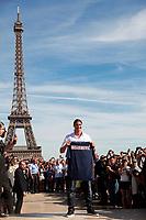 FOOTBALL - MISCS - PARIS SAINT GERMAIN PRESS CONFERENCE - PARIS - FRANCE - 18/07/2012 - PHOTO JULIEN BIEHLER / DPPI - PRESENTATION PSG NEW PLAYER ZLATAN IBRAHIMOVIC IN TROCADERO