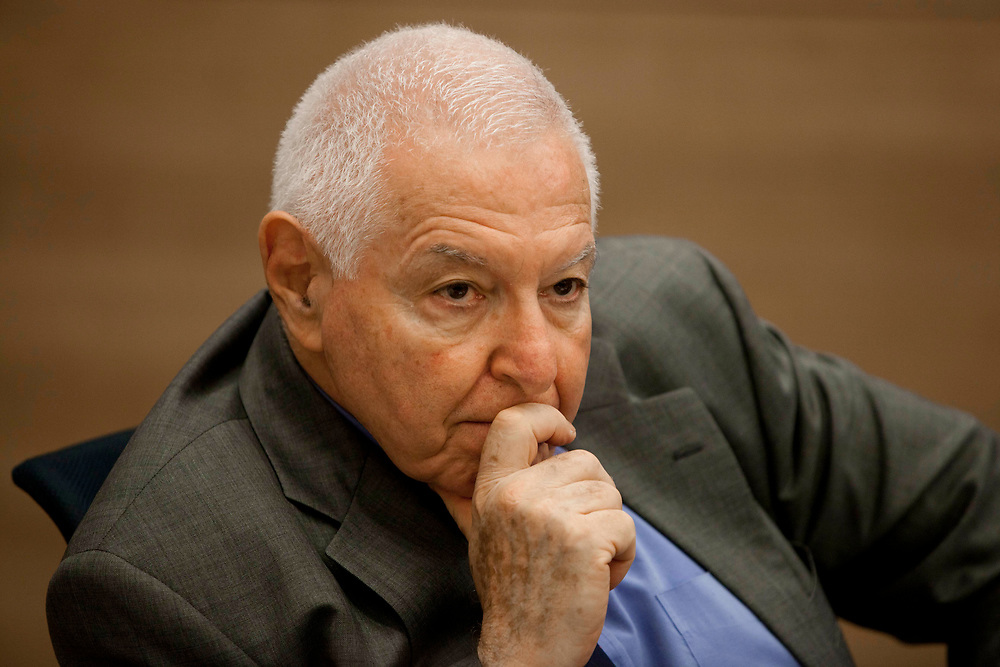 State Comptroller Micha Lindenstrauss attends a session of the State Control Committee at Israel's parliament, the Knesset in Jerusalem, on June 21, 2011.