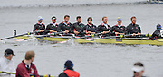 Putney. London,  Leander move through the marshalling area to take up the position to compete in the 2015  Head of the River Race. Championship Course Putney to Mortlake.  ENGLAND. <br /> <br /> Sunday   29/03/2015<br /> <br /> [Mandatory Credit; Intersport-images] .   Empacher.