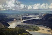 Aerial of Yukon River in the Yukon-Charley Rivers National Reserve, Alaska.