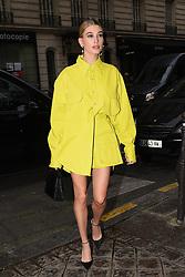 Hailey Baldwin Bieber goes to Balmain. Paris, France on March 3rd, 2019. Clement Prioli/Abaca Press