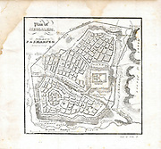"Plan of Jerusalem 1841 Originally from ""The history of the Jews : from the earliest period to the present time"" Scanned map showing mid 19th century interpretation of ancient Jerusalem"