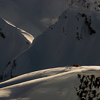 Basecamp during the Tantalus range Deeper splitboard expedition, Canada.