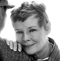 British actress Dame Judy Dench seen in Brigton in 1983.Photographed by Terry Fincher