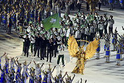 JAKARTA, Aug. 18, 2018  Delegation of China's Macao enters the Gelora Bung Karno (GBK) Main Stadium at the opening ceremony of the 18th Asian Games in Jakarta, Indonesia, Aug. 18, 2018. (Credit Image: © Pan Yulong/Xinhua via ZUMA Wire)