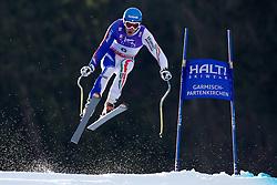 12.02.2011, Kandahar, Garmisch Partenkirchen, GER, FIS Alpin Ski WM 2011, GAP, Herren Abfahrt, im Bild Christof Innerhofer (ITA) takes to the air competing in the men's downhill race on the Kandahar race piste at the 2011 Alpine skiing World Championships, EXPA Pictures © 2010, PhotoCredit: EXPA/ M. Gunn
