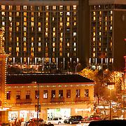 Kansas City's Plaza Lights on a Saturday evening.