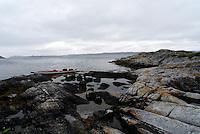 Kayak on rocks - kajakk på Svaberg