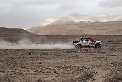 MOQUEGUA, Jan. 12, 2019  South African driver Giniel De Villiers and German co-driver Dirk Von Zitzewitz compete during the 5th stage of the 2019 Dakar Rally Race, near Moquegua, Peru, on Jan. 11, 2019. Giniel De Villiers and Dirk Von Zitzewitz finished the 5th stage with 5 hours 34 minutes and 29 seconds. (Credit Image: © Xinhua via ZUMA Wire)