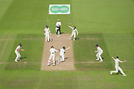 Moeen Ali of England celebrate the wicket of Ravichandran Ashwin during the second day of the 4th SpecSavers International Test Match 2018 match between England and India at the Ageas Bowl, Southampton, United Kingdom on 31 August 2018.