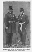 """McDOWELL AND McCLELLAN TWO UNION LEADERS WHOSE PLANS """"STONEWALL"""" JACKSON FOILED from the book ' The Civil war through the camera ' hundreds of vivid photographs actually taken in Civil war times, sixteen reproductions in color of famous war paintings. The new text history by Henry W. Elson. A. complete illustrated history of the Civil war"""