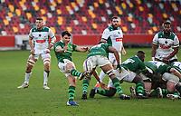Rugby Union - 2020 / 2021 European Rugby Challenge Cup - London Irish vs Pau - Brentford Community Stadium<br /> <br /> London Irish's Nick Phipps clears.<br /> <br /> COLORSPORT/ASHLEY WESTERN