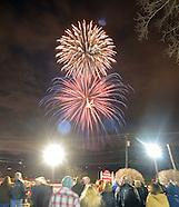 Historic Lukens Clock Rededication and Fireworks in Hatboro, Pennsylvania