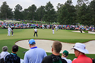 Shane Lowry (IRL) on the 1st green during the 1st round at the The Masters , Augusta National, Augusta, Georgia, USA. 11/04/2019.<br /> Picture Fran Caffrey / Golffile.ie<br /> <br /> All photo usage must carry mandatory copyright credit (© Golffile | Fran Caffrey)