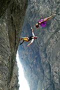"""ZHANGJIAJIE, CHINA - SEPTEMBER 12: <br /> <br /> Dancers Hang On Cliff To Perform <br /> <br /> Dancers from American Bandaloop dance troupe hang from the plank road on Guigu Cliff to perform in the air at Tianmenshan National Forest Park on September 12, 2016 in Zhangjiajie, Hunan Province of China. Bandaloop dance troupe made performances in the air at Tianmenshan National Forest Park on Sep 12-13 in Zhangjiajie. Dancers hung on Guigu Cliff, Tianmen Cave and Yuhu Peak to perform the \""""vertical dance\"""". <br /> ©Exclusivepix Media"""