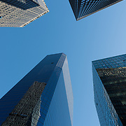 Skyscrapers in the financial district of Lower Manhattan.