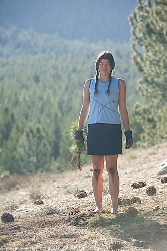 Melanie Tavesieff planting trees in South Lake Tahoe, CA