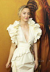 December 4, 2018 - New York, New York, United States - Saoirse Ronan wearing dress by Gucci attends the New York premiere of 'Mary Queen Of Scots' at Paris Theater  (Credit Image: © Lev Radin/Pacific Press via ZUMA Wire)