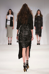 © Licensed to London News Pictures. 01/06/2015. London, UK. Collection by Lili Liu. Fashion show of Nottingham Trent University at Graduate Fashion Week 2015. Graduate Fashion Week takes place from 30 May to 2 June 2015 at the Old Truman Brewery, Brick Lane. Photo credit : Bettina Strenske/LNP