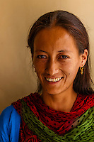 Woman,  Tangtse, Ladakh, Jammu and Kashmir State, India.