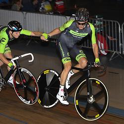 29-12-2015: Wielrennen: NK Baan: Alkmaar       <br />ALKMAAR (NED) baanwielrennen  <br />Op de wielerbaan van Alkmaar streden de wielrenners om de nationale baantitels. <br />Dylan van Baarle en Yoeri Havik prolongeren de titel op de koppelkoers
