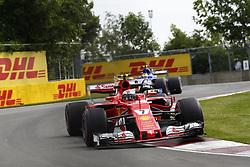 June 9, 2017 - Montreal, Canada - Motorsports: FIA Formula One World Championship 2017, Grand Prix of Canada, .#7 Kimi Raikkonen (FIN, Scuderia Ferrari) (Credit Image: © Hoch Zwei via ZUMA Wire)