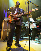 """WASHINGTON, DC - May 5th, 2014 - Big Tony of Trouble Funk  performs at the 9:30 Club in Washington D.C. as part of his birthday celebration. The night featured a set from """"surprise guests"""" Dave Grohl and Foo Fighters. (Photo by Kyle Gustafson / For The Washington Post)"""