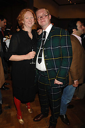 FERGUS & MARGOT HENDERSON at an auction in aid of The Parkinson's Appeal for Deep Brain Stimulation 'Meeting of Minds' held at Christie's, King Street, London SW1 followed by a dinner at St.John, 26 St.John Street, London on 16th October 2007.<br /><br />NON EXCLUSIVE - WORLD RIGHTS