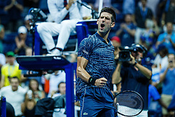 September 5, 2018 - Flushing Meadow, NY, U.S. - FLUSHING MEADOW, NY - SEPTEMBER 05: NOVAK DJOKOVIC (SRB) and JOHN MILLMAN (AUS) day ten of the 2018 US Open on September 05, 2018, at Billie Jean King National Tennis Center in Flushing Meadow, NY. (Photo by Chaz Niell/Icon Sportswire) (Credit Image: © Chaz Niell/Icon SMI via ZUMA Press)
