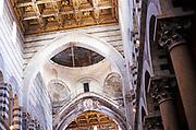 Interior of cathedral church of Santa Maria Assunta, Pisa, Italy