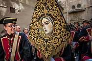 A marching band belonging to the Hermandad de la Estrella, one of the several brotherhoods of the city of Granada. Andalusia, Spain