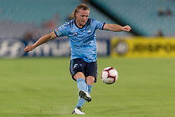 December 15, 2018 - Sydney, NSW, U.S. - SYDNEY, NSW - DECEMBER 15: Sydney FC defender Rhyan Grant (23) crosses the ball at the Hyundai A-League Round 8 soccer match between Western Sydney Wanderers FC and Sydney FC at ANZ Stadium in NSW, Australia on December 15, 2018. (Photo by Speed Media/Icon Sportswire) (Credit Image: © Speed Media/Icon SMI via ZUMA Press)