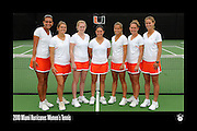 2010 Miami Hurricanes Women's Tennis Team Photo