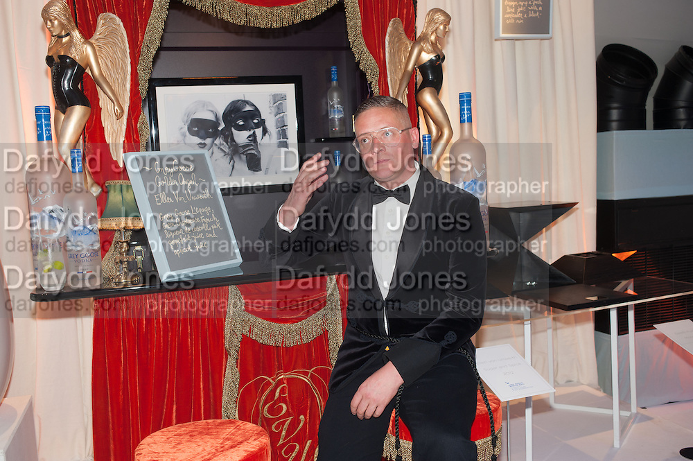 GILES DEACON, Grey Goose Winter Ball to benefit the Elton John Aids Foundation. Battersea Power Station. London. 10 November 2012.