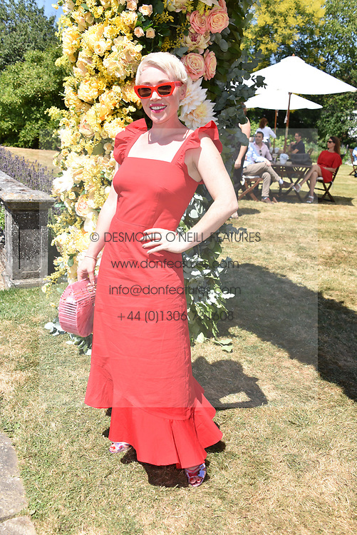 Daisy Lewis at the 'Cartier Style et Luxe' enclosure during the Goodwood Festival of Speed, Goodwood House, West Sussex, England. 15 July 2018.
