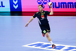 Albin Lagergren of Sweden during handball match between National Teams of Sweden and Algeria at Day 2 of IHF Men's Tokyo Olympic  Qualification tournament, on March 13, 2021 in Max-Schmeling-Halle, Berlin, Germany. Photo by Vid Ponikvar / Sportida