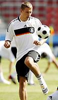 GEPA-0706085928 - KLAGENFURT,AUSTRIA,07.JUN.08 - FUSSBALL - UEFA Europameisterschaft, Vorbereitung auf die EURO 2008, Nationalteam Deutschland, Abschlusstraining. Bild zeigt Lukas Podolski (GER).<br />Foto: GEPA pictures/ Oskar Hoeher